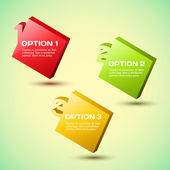 Elección del producto vectorial progreso fondo o versiones. — Vector de stock