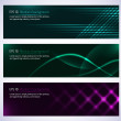 Dark design banners template for you designs — Stock Vector #31095233