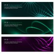 Dark design banners template for you designs — Stock Vector #31095267