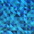 Blue seamless triangle abstract pattern. — Stockvektor