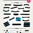 Vintage styled ribbons and design elements collection. — Stock Vector