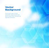 Fond abstrait vector bleu avec demi-teintes et polygones. — Vecteur