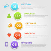 Modern infographics options template. — Stock Vector