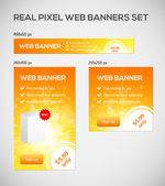 Standard size web banners set. — Stock Vector
