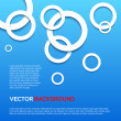 Abstract 3D blue circles background. — Stock Vector #36181215