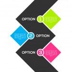 Modern ftat infographic template — Stock Vector
