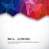 Fondo colorido geométrico 3d abstracto. — Vector de stock