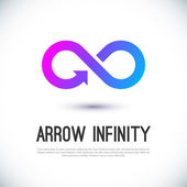 Arrow infinity business vector logo — Stock Vector