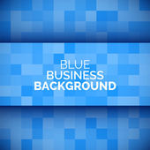 Abstract 3D business blue background. — Stockvector