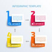 Plantilla de infografías de negocios. — Vector de stock