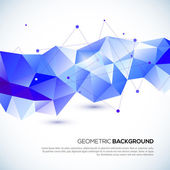Abstract 3D geometric background — Stock Vector