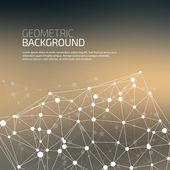 Molekül und kommunikation-hintergrund — Stockvektor