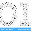 Geometric type font — Stock Vector #41085057