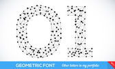Geometric type font — Stock Vector