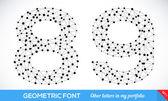 Fonte de tipo geométrico. — Vetorial Stock