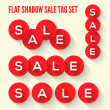 Vector de stock : Modern flat sale tags set.