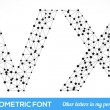 Geometric type font. — Vector de stock #41095173