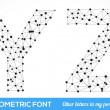 Geometric type font. — Vector de stock #41095645