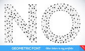 Geometric type font. — Stock Vector