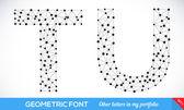 Geometric type font. — Stock Vector