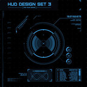 Set hud y gui. interfaz de usuario futurista. — Vector de stock