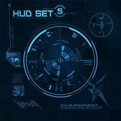 HUD and GUI set. Futuristic User Interface. — Stock Vector