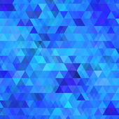 Abstract blue background with triangles — Stock Vector