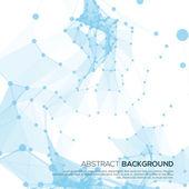 Fundo azul da molécula e comunicação — Vetorial Stock