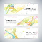 Vector banners set with polygonal abstract shapes — Stock Vector