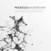 Molecule structure vector background. — Stockvector