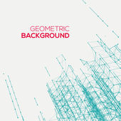 Abstract connect geometric background — Stok Vektör