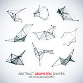 Set of abstract vector geometric shapes — Stok Vektör