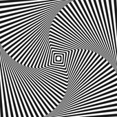 Optical art illusion — Stock Vector