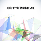 Vector background with polygonal abstract shapes, circles, lines, triangles — Stockvector