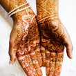 Henna hands at indian wedding — Stock Photo #23767799
