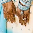Royalty-Free Stock Photo: Henna hands at indian wedding