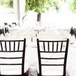 Stock Photo: Wedding tables