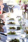 Wedding tables — Stock Photo