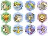 Conjunto de ícones do zodíaco — Vetorial Stock