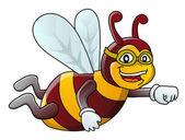 Funny bee — Stock Vector
