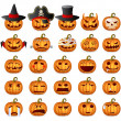 Halloween Pumpkin Set — Stock Vector #13615891