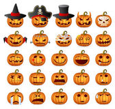 Halloween Pumpkin Set — Stock Vector
