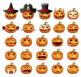 Halloween Pumpkin Set — Stock Vector