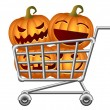 Stock Vector: Halloween Shoppingcart