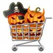Halloween Shoppingcart — Stockvektor