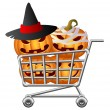 Halloween Shoppingcart — Stock Vector #13627539