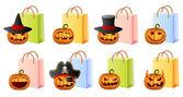 Halloween shopping — Vecteur