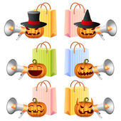 Halloween Shopping — Vector de stock