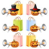 Halloween winkelen — Stockvector