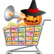 Halloween shoppingcart — Stock Vector #13718681